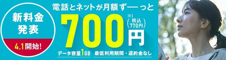 新料金4/1開始!電話とネットが月額ずーっと770円
