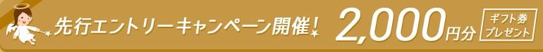 先行エントリーキャンペーン開催!2,000円分ギフト券プレゼント