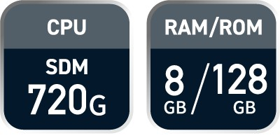 CPU:SDM720G/RAM8GB/ROM128GB