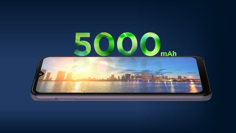 5,000mAh大容量バッテリー